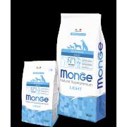 Monge сухой корм СПЕЦИАЛЬНЫЙ для взрослых собак низкокалорийный с лососем и рисом