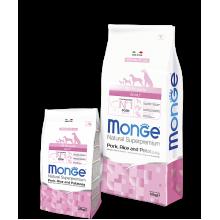 Monge сухой корм для взрослых собак всех пород со свининой и рисом