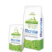 Monge сухой корм для взрослых собак всех пород с кроликом и рисом