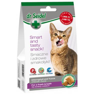 Dr. Seidel Snacks. Лакомство для кошек - для свежего дыхания 50г