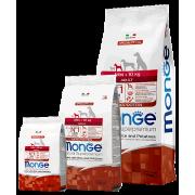 Monge сухой корм для взрослых собак мини пород c ягненком, рисом и картофелем