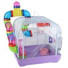 B4104 Клетка для мелких животных с переходами, эмаль, 395*295*380мм