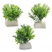 """Растение 1140LD """"Микрантемум"""", 1 ветка, (набор 3шт), 50мм, (пакет)"""