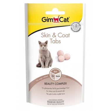 Лакомство Gimсat витаминизированное для кошек для поддержания кожи и шерсти, Skin&Coat, 40 г