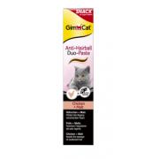 Gimcat Паста для кошек ANTIHAIRBALL DUO-PASTE  с эффектом выведения шерсти курица и солод, 50 гр