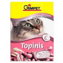 """Gimcat Витаминизированное лакомство для кошек """"TOPINIS CURD"""", 220 гр"""