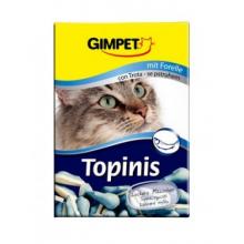 """Витамины Gimpet Topinis Trout для кошек """"Мышки"""" с таурином и лососем, 220 грамм"""