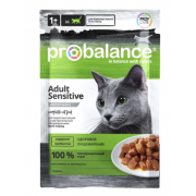 ProBalance Sensitive корм для кошек с чувствительным пищеварением (пауч)