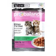 ProBalance 1'st Diet корм для котят c кроликом в желе (пауч)