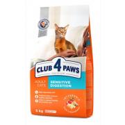 Club 4 Paws Премиум сухой корм  для взрослых кошек с чувствительным пищеварением