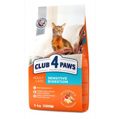 Club 4 Paws 5 кг Премиум сухой корм для взрослых кошек с чувствительным пищеварением