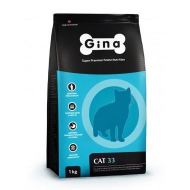 Gina Cat-33 для активных и выставочных кошек с ягненком и рисом 1 к