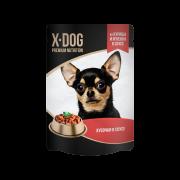 X-DOG консервы для собак курица+ягнёнок. 85гр.