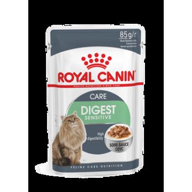 """Влажный корм """"Royal Canin Digest Sensitive"""" для кошек с чувствительным пищеварением (в соусе) 85 гр."""
