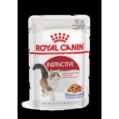 """Влажный корм """"Royal Canin Instinctive""""  полнорационные для взрослых кошек (в соусе) 85 гр."""