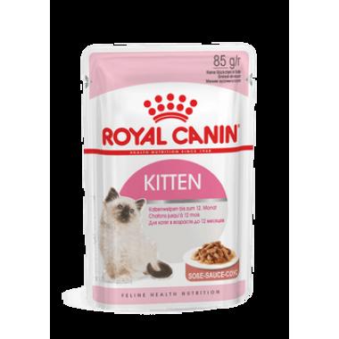 """Влажный корм """"Royal Canin Kitten instinctive"""" для котят от 4 до 12 месяцев (в соусе) 85 гр."""