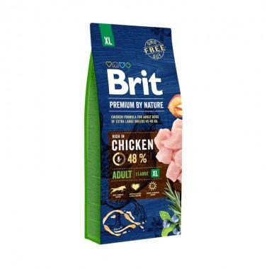 Полнорационный сухой корм Brit Premium by Nature Adult XL для взрослых собак очень крупных пород
