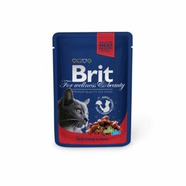 Пауч Brit Premium Рагу из говядины с горошком