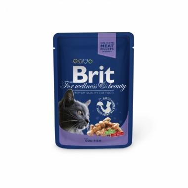 Пауч Brit Premium Кусочки с треской