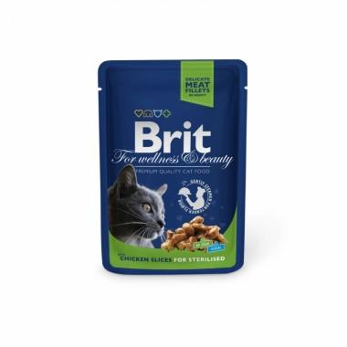 Пауч Brit Premium Sterilised Кусочки курочки