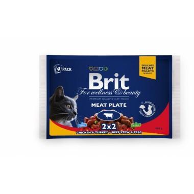 Набор пресерв Brit Premium Ассорти Мясная тарелка