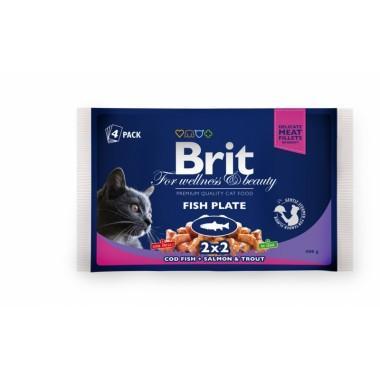 Набор пресерв Brit Premium Ассорти Рыбная тарелка