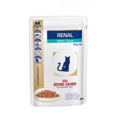 Влажный корм Royal Canin Renal Feline (Тунец) диета для кошек при хронической почечной недостаточности 85 гр.