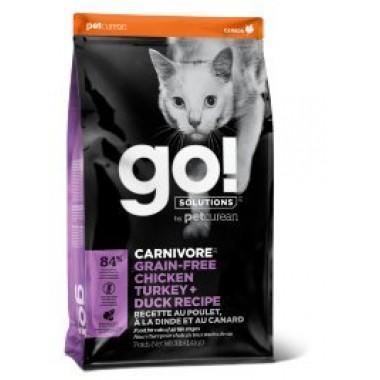 GO Беззерновой корм для котят и кошек - 4 вида Мяса: Курица, Индейка, Утка и Лосось 1 кг. весовка