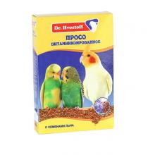 Корм для птиц DR. HVOSTOFF Просо витаминизированное с семенами льна 0,5 к