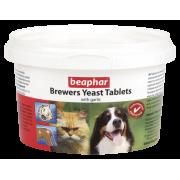 Beaphar Brewers yeast Tabs - Пивные дрожжи с чесноком для котов и собак, 250 табл. (арт. 12664).