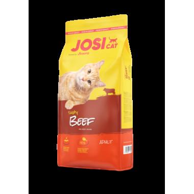 """""""JosiCat Tasty Beef"""" полнорационный корм для взрослых кошек (говядина) 18 кг."""