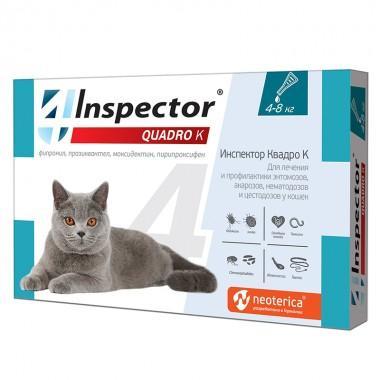 Inspektor Quadro капли для кошек 4-8кг I302