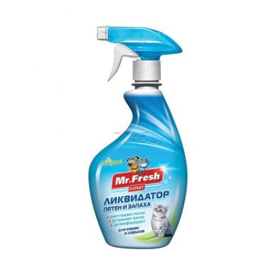 Ликвидатор пятен и запаха для кошек MR. FRESH Expert 3в1 500 мл (F403)