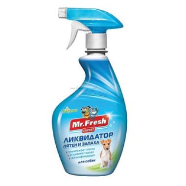 Ликвидатор пятен и запаха для собак MR. FRESH Expert 3в1 500 мл (F404)