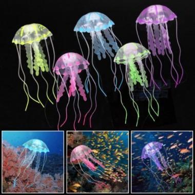Силиконовая Медуза Barbus Decor 076 малая, Красная (5*15 см)