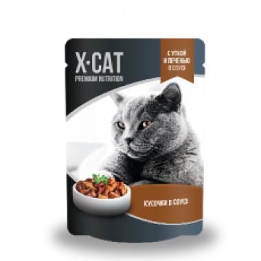 X-CAT консервы утка+печень 85гр