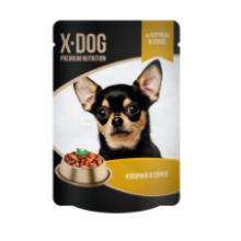 X-DOG консервы для собак из курицы в соусе, 85гр.