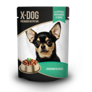 X-DOG консервы курица+кролик, 85гр.
