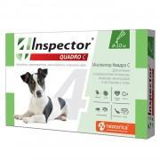 Inspector Quadro капли для собак от паразитов (4-10кг)