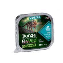 Monge консервы для стерилизованных кошек тунец+овощи, 100гр