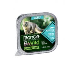 Monge консервы для кошек треска+овощи, 100гр