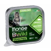 Monge консервы для стерилизованных кошек кабан+овощи, 100гр