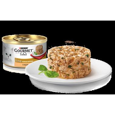 Gourmet Gold Нежные биточки с индейкой и шпинатом 85 гр.