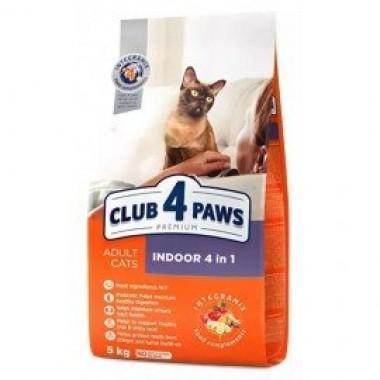 Клуб 4 лапы для кошек, живущих в помещениях 4в1 1 кг. весовка