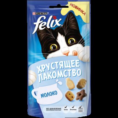 Purina Felix Хрустящее Лакомство для кошек (Молоко) 60 гр.