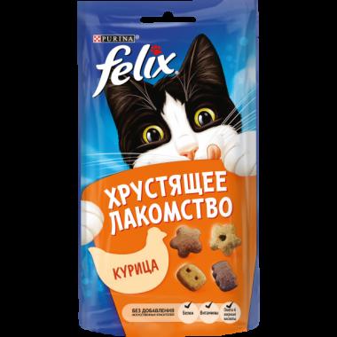 Purina Felix Хрустящее Лакомство для кошек (Курица) 60 гр.