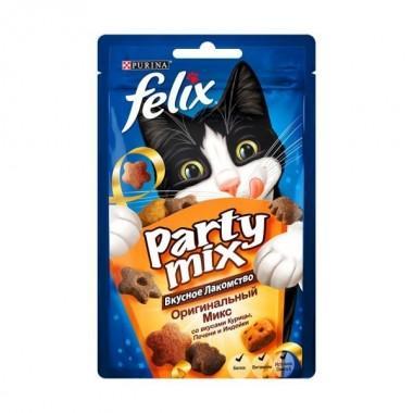 Purina Felix Party mix Хрустящее Лакомство для кошек (Оригинальный микс) 60 гр.
