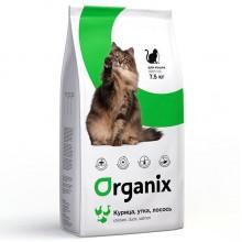 Organix Натуральный корм для кошек: курица, утка, лосось