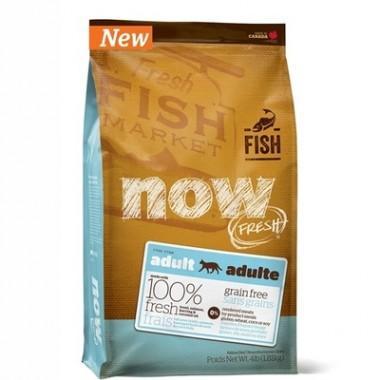 NOW Беззерновой корм для взрослых кошек с Форелью и Лососем для чувствительного пищеварения 1,82 кг