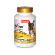 Unitabs витамины BrewersComplex с Q10 для крупных собак